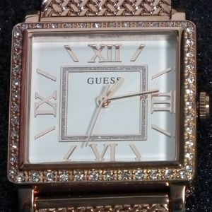 GUESS Watch -  W0826L3 Highline Rose Gold-Tone